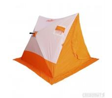 Палатка зимняя СЛЕДОПЫТ 2-скатная бело-оранжевая