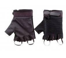 Перчатки туристические СЛЕДОПЫТ черные, без пальцев