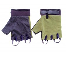Перчатки туристические СЛЕДОПЫТ зеленые, без пальцев