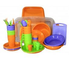 Набор посуды для пикника СЛЕДОПЫТ Holiday пластик