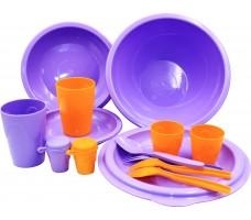 Набор посуды для пикника СЛЕДОПЫТ Tete-a-Tet пластик
