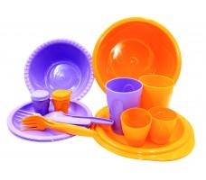Набор посуды для пикника СЛЕДОПЫТ Siesta пластик